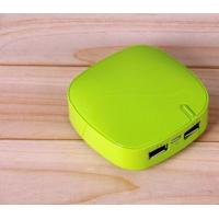 Wholesale 4400mAh Green Plastic Power Bank Rechargeable Mobile Charger from china suppliers