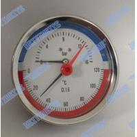 Wholesale 80mm Steel case  temperature pressure gauge , brass stem back pressure gauge from china suppliers