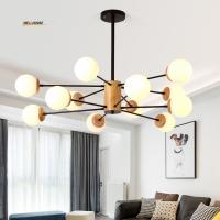Wholesale LED Nordic living room real magic chandelier chandelier study bedroom lamp wood creative personality cafe restaurant from china suppliers