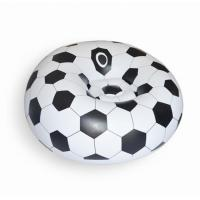 Quality comfortable football design relax inflatable soccer sofa chair,soccer ball shaped lounge inflatable sofa for sale