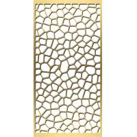 Buy cheap gold plated stainless steel screen laser cut screens for tall room divider from wholesalers