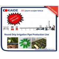 Buy cheap Round Drip Irrigation Pipe Extruder Machine Speed up to 60m/min high speed from wholesalers