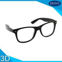 Quality Cinema White Circular Polarized 3D Glasses foldable arms WITH Anti UV for sale