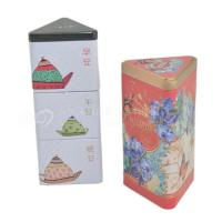 Wholesale Hot selling elegant triangle shaped metal tin box for tscented tea from china suppliers