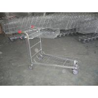 Wholesale Supermarket cargo Warehouse Trolley with foldable basket and customized logo from china suppliers