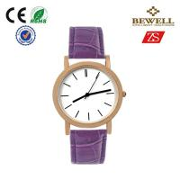 Wholesale OEM / ODM Alloy Quartz Movt Watches With Purple Leather Band from china suppliers