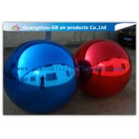 Wholesale Commercial Blue / Red PVC Inflatable Mirror Ball For Disco Party Decorations from china suppliers