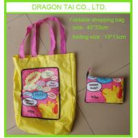 Wholesale promotional foldable zipper shopping bag from china suppliers