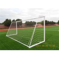 Wholesale 5 X 2 Steel Portable Football Goals , White 7 Man In - Line Football Gate from china suppliers