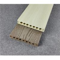 China Gray Color Composite Deck Boards Hollow Or Solid Anti - Slip Embossing on sale