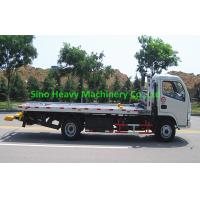 Wholesale 5 Ton Flatbed Tow Truck In White , Howo Obstacle Heavy Duty Tow Trucks from china suppliers