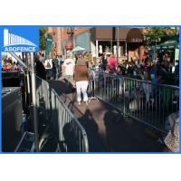 Wholesale Removable Temporary Security Fence , Road Safety Barriers Silver Painted from china suppliers