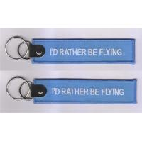 Quality I'd Rather Be Fliying Fabric Embroidery Pilot Key Chains for sale