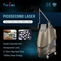 Wholesale 2500W 1-10mm adjustable picosecond laser Korea 755nm laser tattoo removal picosecond laser from china suppliers