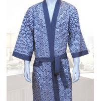 Wholesale Cotton Sauna Luxury Bath Robes , SPA Man Waffle Weave Robes from china suppliers