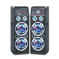 Wholesale Double 10 Inch Bluetooth Portable Speaker PA System With Wireless Microphone from china suppliers