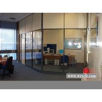 Modular Office Partitions With Famed Aluminium,Frosted / Tempered Glass , Stud Walls