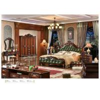 Wholesale A6026; leather bed, bedroom set,Royal style bedroom furniture,hotel furnitue,bed side table,dresser,Night stand,wardrobe from china suppliers