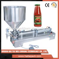 Wholesale Vegetable Oil Bottle Semi-Automatic Filling Machine Electric Driven Type from china suppliers