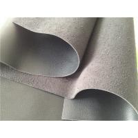 Wholesale Long Hair Flocking Black Bonded Leather Fabric Anti Slip Easy Cleaning from china suppliers