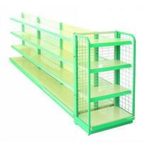 Wholesale Cold Rolled Steel Supermarket Display Racks / Shop Display Stands With Flat Panel from china suppliers
