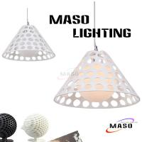 Wholesale Red and White Indoor Decoration Resin pendant lights Contemporary Stype Lamp MS-P1018 from china suppliers