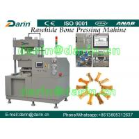Wholesale Dog Chews Rawhide Bone Pressing Machine with Double Working Station for Dog Snacks from china suppliers
