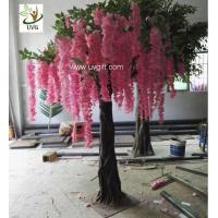 Wholesale UVG unique wedding ideas decorative small artificial wisteria blossom indoor silk trees for sale WIS019 from china suppliers