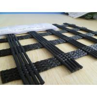 Wholesale 300 - 30KN/M Heavy Duty Polyester Geogrid Fabric For Asphalt Reinforcement / Retaining Wall from china suppliers