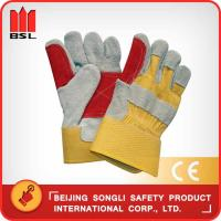 Wholesale SLG-HD6020-E cow split leather working safety gloves from china suppliers