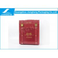 Wholesale Red Leather Wooden 6 Bottle Wine Gift Box Elegant Customized Fancy Printing from china suppliers