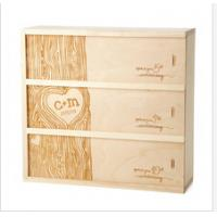 Wholesale classical design unfinished wooden wine boxes from china suppliers