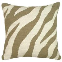 Wholesale Brown linen zebra print throw pillows 50 x 50 cm For Decorative from china suppliers