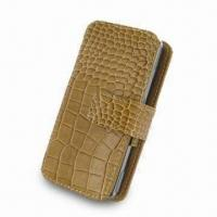 Wholesale Leather Mobile Phone Case, Made of PU Leather Material with Metal Logo from china suppliers