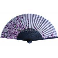 Wholesale Sakura Printed Japanese Hand Held Fans with Bamboo Ribs for holiday parties from china suppliers