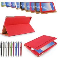 Wholesale Luxuy Durable PU Leather Tablet Case and covers Rose Red / Grey / Green from china suppliers