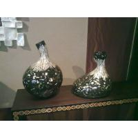 Wholesale Green with Slivery Dining Table Ornaments , Resin Art Vase from china suppliers