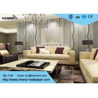 Wholesale Curve Line Design Gray Modern Removable Wallpaper  for TV Background 0.53*10M from china suppliers