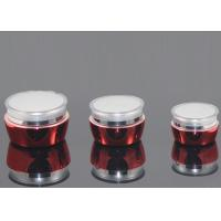 Wholesale Red With Transparent 30ml Cosmetic Cream Containers / Face Cream Jars from china suppliers