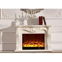 Wholesale Classical Stand Alone Electric Fireplace Solid Wood Resin HDF from china suppliers