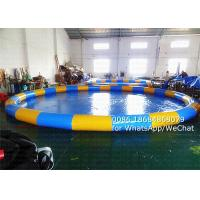 Wholesale 20M Round Water Park Inflatable Swimming Pools Acceptable Logo Printing from china suppliers