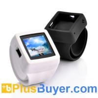 Wholesale Snap-On - Quad Band Watch Phone with Changeable Straps - White from china suppliers