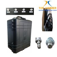 Buy cheap 4 Bands Low Frequency 20-500MHz VIP Portable Jammer,100W High Power Luggage Wheel Jammer from wholesalers