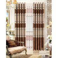 Wholesale America Style Jacquard Luxury Ready Made Curtains , Polyester Modern Window Curtain from china suppliers
