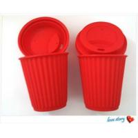 Wholesale silicone coffee cup with lid ,promotion travel silicone coffee cups from china suppliers