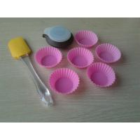 Wholesale Custom Heart Resist Silicone Baking Set With 6pcs Pink Silicone Cake Cup from china suppliers