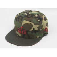 Wholesale Flat Brim Fitted Baseball Caps Embroidered , Camouflage Snapback Cap from china suppliers