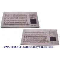 Wholesale Industrial Trackball Keyboard With Front Panel Mounting Solution , Brushed Surface from china suppliers