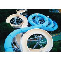 Wholesale Spiral Waterpark Slide , FRP Water Park Slides / Cuustomized Water Slide for Giant Aqua Park from china suppliers