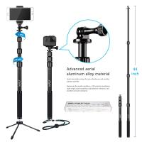 Wholesale Gopro / Smartphone / Dslr Camera Selfie Stick , HSU 3 Section Telescopic Extension Pole from china suppliers